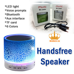 Wholesale A9 LED Display Bluetooth Wireless Portable Speaker Stereo Handsfree sound Mini Speakers with TF Reader Wireless Subwoofer Loudspeaker in box