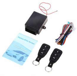 Wholesale DHL Universal Car Auto Remote Central Kit Door Lock Locking Vehicle Keyless Entry System New With Remote Controllers