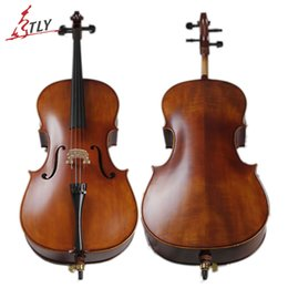 Acoustique de érable flammé en Ligne-Instrument de musique en gros-Tongling Antique Matt Cello Natural érable flammé Violoncelle acoustique professionnel Livraison gratuite