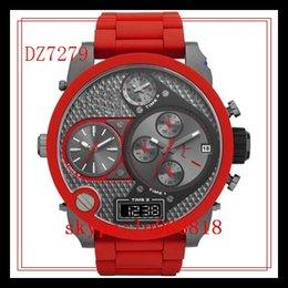 Wholesale TOP QUALITY BEST PRICE Drop Ship New DZ7277 DZ7278 DZ7279 Quartz Chronograph Mens Watch Wristwatch Silicone Rubber Strap Gents Wristwatch
