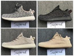 Wholesale 2016 Boost Pirate Black Turtle Dove Moonrock Oxford Tan Mens Running Shoes Women Kanye West Boosts V1 Season With Original Box