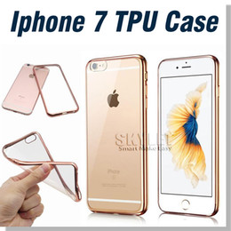 Wholesale For Iphone Case Note Case Colorful TPU Electroplating Case Backcover Ultra Thin Case Galaxy S7 TPU Case Soft Gel Silicone Case Opp Bag