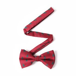 Free Shipping TIESET Christmas Tree Bow Tie Christmas Snowflake Cane Candy Bow Tie For Male Christmas Gift For Men