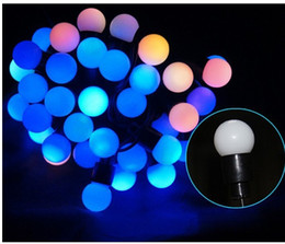 7m 220V Fairy Christmas lights wedding decoration lamps color changing LED ball Garland string new year holiday party lights