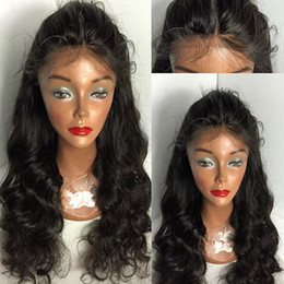 100% unprocessed hair front lace wig & indian full lace wig glueless natural hairline human hair wigs for black women