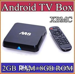 Wholesale HOT Original M8 M8N XBMC13 Kodi14 Amlogic S802 Android TV Box GB GB Quad Core XBMC TV Box Android K G G Dual WiFi TV
