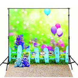 Wholesale Vinyl Backdrops Customize Children Scenic Photography Backdrops Bear Balloon Fantasy Photo Studio Props Baby