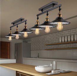Wholesale 2016 new American Countryside Antique Celing Lamp Vintage pendant Light Loft Industrial Home Lighting With Edison Bulbs for Dinning Room