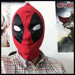 10PCS Halloween Party Cosplay Movie Maxhoc Deadpool Mask red new superhero Costume Hood polyeter cosplay for Adults and Kids in halloween