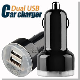 Wholesale Colorful Car Charger Dual USB Port Cigarette Auto Power Adapter For Samsung Galaxy S5 NOTE LG Android Tablet DHL
