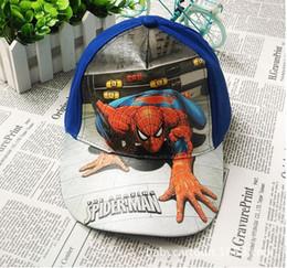 Children Cartoon Spiderman Hats 2016 New Boys Girls Fashion Ball Caps Kids Visor Hat Child Accessories Hats 2 Colors 15pcs lot