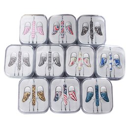 Wholesale Pepper Potts Colored Drawing Earphone mm In Ear Earphone With In Box For Iphone Smart Mobile Phone Earphone