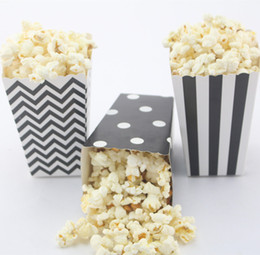 120pcs(10packs MIX) Event & Party Supplies Free Shipping black Popcorn Box eco craft paper Candy Box