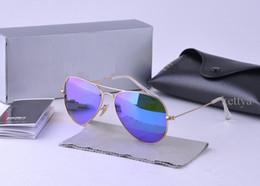 Wholesale New Brand Design Fashion Men Women Sunglasses High quality UV Protection Vintage aviators glasses Retro With Original case box