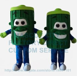 Wholesale 1 piece green trash bin dustbin mascot costume adult size cartoon garbage can theme anime cosply costumes fancy dress