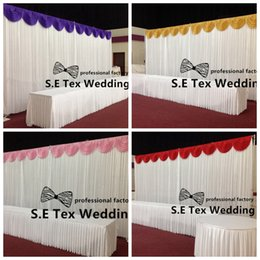 White Color Ice Silk Wedding Backdrop Curtain With Top Swags And Pipe Stant \ Stent Free Shipping