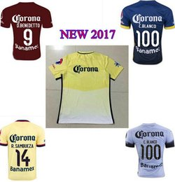 Wholesale NEW American Memorial red shirts new red club america jerseys R SAMBUEZA C BLANCO club america soccer uniformswholesale DHL