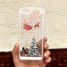 Wholesale Flower Cute Case Cover For Apple iPhone S Case PC Plastic Christmas Tree Cake Case For Phone S SE Plus