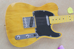 Wholesale Custom Shop American Deluxe Ash Telecaster Electric Guitar Butterscotch Blonde Black Pickguard