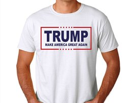 Wholesale Republican Supporter Shirt Make America Great Again US President Campaign T Shirt Short Sleeve America Votes Supporter Shirt
