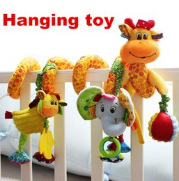 Wholesale Hot sale lovely infant toy baby crib revolves around the bed stroller hanging Development educational toy Rattle Mobile Teether