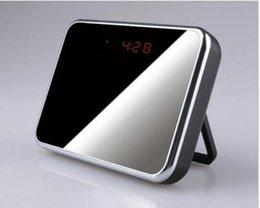 Wholesale Spy camera V7 intelligent LCD Alarm clock Camera Hidden Cameras remote control Clock Video recorder motion detect listen device