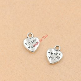 100pcs Tibetan Silver Plated Thank You Heart Charm Fashion Pendants for Jewelry Making Diy Jewelry Findings 13x10mm jewelry making