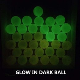 Wholesale Free of shipping Pk mm Glow In Dark Beer Pong Balls Party Fun Glowing Game Ball