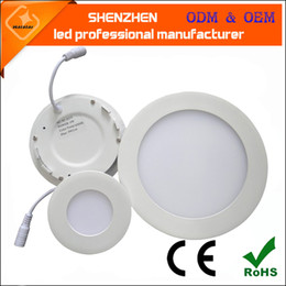 Wholesale LED Ceiling Recessed Downlight Round Panel Light Ultra Thin Design w W W W W W W W Indoor lighting