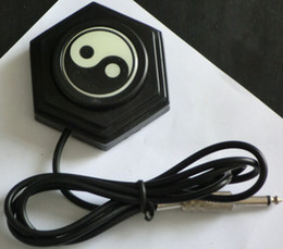 1Pc Black Yinyang Style Tattoo Foot Pedal Switch Power Supply Control Tattoo Footswitch foot pedal