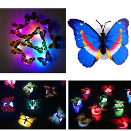 7 Color Changing Multicolor Beautiful Cute Butterfly LED Night Light Home Room Wall Decor Lamp Decoration