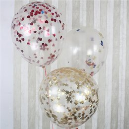 Wholesale Retail Inch Giant Clear Confetti Party Ideas Balloon for Romantic Valentines Day Wedding Party Layout Decoration