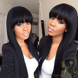 Brazilian Full Lace Wigs For Black Women Human Hair Wigs With Bangs Human Hair Lace Front Wigs With Baby Hair