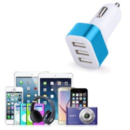 Car Charger 3-port Universal Rapid Portable A USB 3-Ports Car Charger Adapter for iPhone 7 7 Plus 6 6+ 6s 6s+ 5 5s 5ciPad Mini,iPad air 2