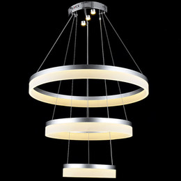 VALLKIN® DIY Indoor Lighting Pendant Lamps Chandeliers Fixtures with 3 Ring 204060CM 54W CE FCC ROHS