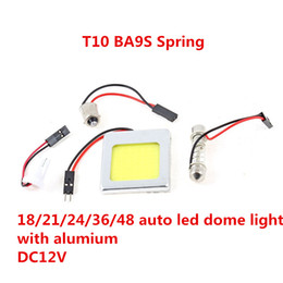 Wholesale 48 led T10 COB ba9s spring ba15s W with Aluminum Car Auto Panel Festoon Interior Plate Dome LED LED