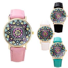 New Arrival Fashion Women Wristwatch Sunflower Style Leather Strap Analog Quartz Women Watch Geneva Casual Watch