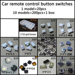 Free Shipping 10 models 200 pcs Tactile Push Micro Switch Car remote control button switches each 20