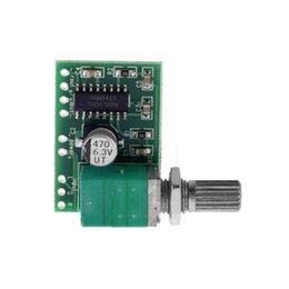 Wholesale Mini PAM8403 V Channel USB Power Audio Amplifier Board Wx2W Volume Control Worldwide Store