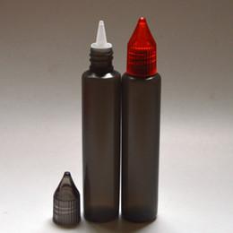Wholesale 100pcs E liquide ml Noir Bouteille Unicorn Empty ml Pen Forme Bouteille d expédition Bouteilles long Slim E Liquid Plastic Dropper rapide