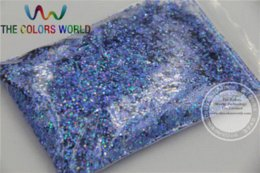Wholesale 1 MM Laser Dark Blue Color Glitter Powder for nail or Other Decoration powder injection powdered chlorine