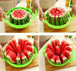 Wholesale 2016 New Arrive Large Size Watermelon Cutter Cantaloupe Melon Slicer Stainless Steel Kitchen Divider Tool Fruit Vegetable Tools