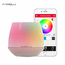 MIPOW Playbulb Smart Bulb Bluetooth LED Candle Light Home Wireless Aromatherapy Nightlight Changeable Colors With APP Control