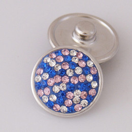 Hot sale KB2405-AM Beauty spots rhinestone 18MM snap buttons for DIY ginger snap bracelets Accessories charm jewelry