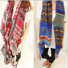 Wholesale Korean version bohemian scarves winter scarves female diamond geometric picture towel scarf air conditioning shawls