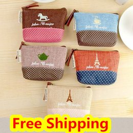 Wholesale womens wallets solid color coin purses Canvas Vintage Small key bags Card holder branded women wallet photo mimco