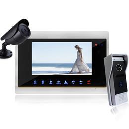 """Acheter en ligne Caméra pour la sécurité cctv-YSECU 7 """"Wired Nuit vidéo visuelle porte téléphone sonnette interphone système de sécurité à la maison TFT étanche avec caméra de vidéosurveillance"""