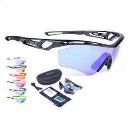Acheter en ligne Le sport pc-Ensemble de lentilles de 2 pcs réglables Lunettes de soleil de cyclisme polarisées professionnelles Hommes UV UV 400