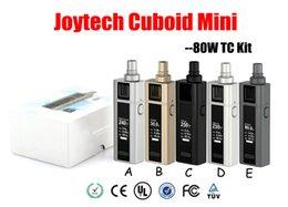 Wholesale Authentic Joyetech Cuboid Mini w TC Kit with Cubiod mini mAh box mod with ml Cuboid Mini Tank evic vtc mini tron
