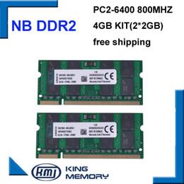 Wholesale 4GB x2GB PC2 S DDR2 Mhz gb pin DDR2 Laptop Memory G Notebook Module SODIMM RAM